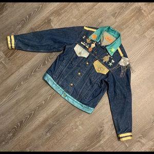 Custom Embellished/Boho Levi Strauss Jacket- XL